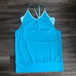Champion Light Blue Athletic Tank w/ Built in Bra